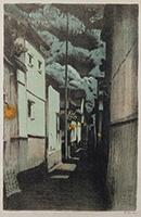 作品画像:浮世小路(月夜)[『大阪風景』より]