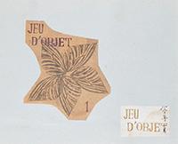 作品画像:JEU D'OBJET 1 表紙、前扉