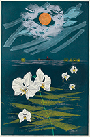 作品画像:月と胡蝶蘭