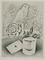 作品画像:薔薇とハートの1
