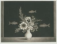 作品画像:草花とアカリヨム