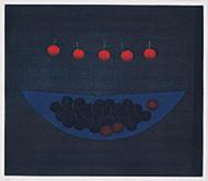 作品画像:さくらんぼと青い鉢