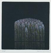 作品画像:アスパラガス[『Hamaguchi's six original color mezzotints(6つのカラーメゾチント)』より]