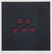作品画像:てんとう虫[『Hamaguchi's six original color mezzotints(6つのカラーメゾチント)』より]