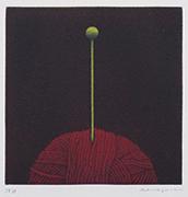 作品画像:毛糸[『Hamaguchi's six original color mezzotints(6つのカラーメゾチント)』より]