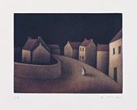 作品画像:村の路