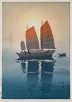 作品画像:帆船 朝