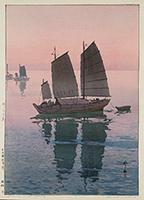 作品画像:帆船 夕