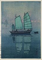 作品画像:帆船 夜