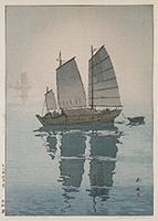 作品画像:帆船 霧