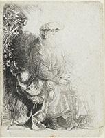 作品画像:イサクを愛撫するアブラハム