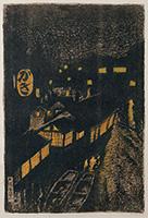 作品画像:京町橋(夜景)[『大阪風景』より]
