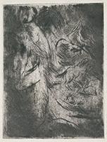 作品画像:後脚で立つ馬と母子