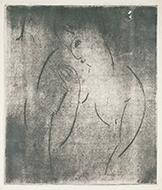 作品画像:左向きの女の半身像