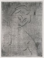 作品画像:右を向くヌードの胸像(第1ステート)
