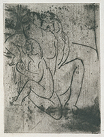 作品画像:裸婦と二人の子供