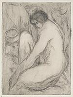 作品画像:左向きの水浴する女(第1ステート)
