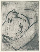 作品画像:女の顔、腕、そして胸