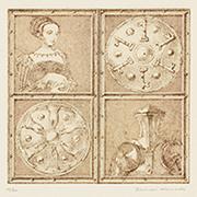作品画像:騎士と鍵と女[『わたくしのヨーロッパの印象記』より]