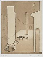 作品画像:小犬のいる風景(K.N.氏のための作品)