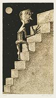 作品画像:階段を上がる人
