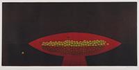 作品画像:赤い皿