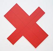 作品画像:X ペインティングⅠ(赤)