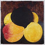作品画像:4 個のネクタリンと卵