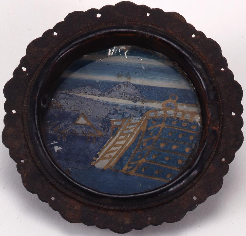 作品画像:ガラス絵引き手金具