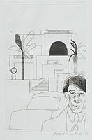 作品画像:カヴァフィスの肖像 Ⅱ[『C.P.カヴァフィスの14編の詩のための挿絵』より]
