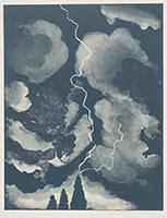 作品画像:稲妻の習作(中)