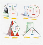 作品画像:単純化された顔(第1ステート)