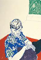 作品画像:緑色の窓のそばのジョー