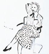 作品画像:水玉模様のスカートを着たシーリア