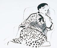 作品画像:アームチェアにすわるシーリア