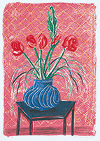 作品画像:花瓶のアマリリス