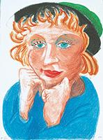 作品画像:緑の帽子を被ったシーリア