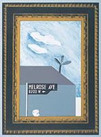 作品画像:飾りのある金の額に入ったメルローズ通りの風景画[『ハリウッド・コレクション』より]