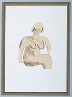 作品画像:簡素な額に入った伝統的な裸婦素描[『ハリウッド・コレクション』より]