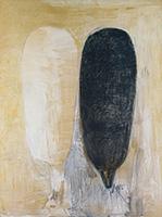 作品画像:乳房の作品Ⅱ:黒と白