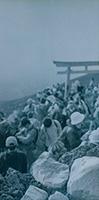 作品画像:地蔵建立 富士山、1995年8月9日