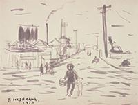 作品画像:江東地区(荒川風景)