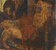 作品画像:肉を喰うライオン B