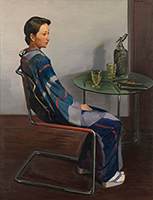 作品画像:椅子に倚る女