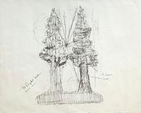 作品画像:《木のあいだの光 #2》のためのドローイング