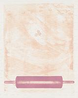 作品画像:Series – In front of, In back of – Paper Between Imaged Stone and Roller – Force for the Surface No.5