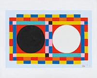 作品画像:黒と白の丸
