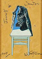 作品画像:ジャケットと椅子
