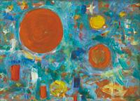 作品画像:オレンジの球円
