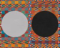 作品画像:二つの丸 グレーと黒